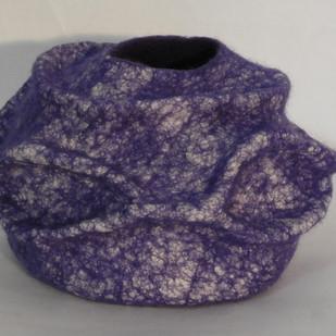 Blue molded bowl