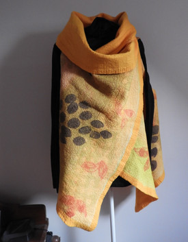 Hand Painted Silk and Meriono Felt Vest
