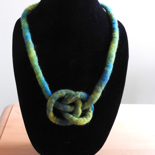 Bound Ring Felted Necklace