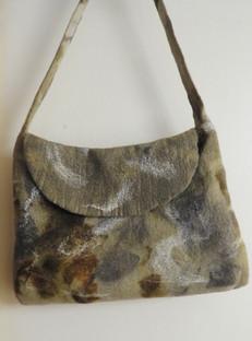 Ecoprinted Felted shoulder bag