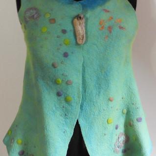 Vest with Box Pleat