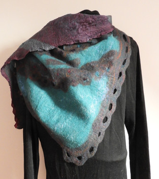 Blue & Burgundy Scarf 4 Ways