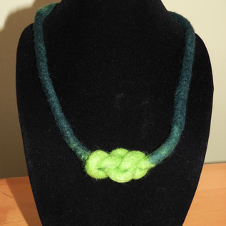 Eternity Knot Felted Necklace