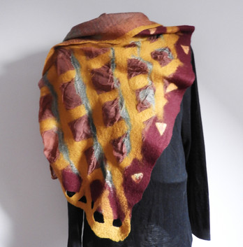 Klimt Inspired Scarf 4 Ways