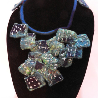 blues squared necklace