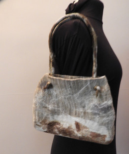 Eco Printing Small Felted Shoulder Bag