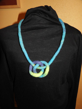Felted Necklace Turquoise