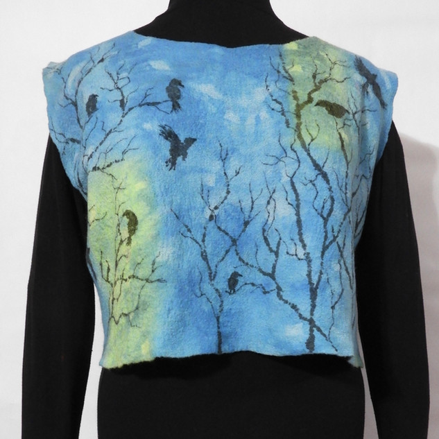 crows sleeveless crop top