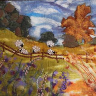 Felted painting Meadowplay