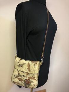 eco printed shoulder bag