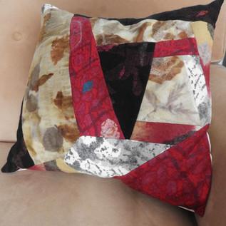Nuno Felt Ecoprinted Cushion