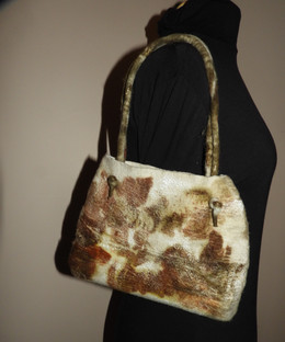 eco Printe Small Felted Shoulder Bag