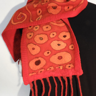 Website2Hand painted nuno felted gold ci