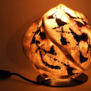 Globe lamp lit