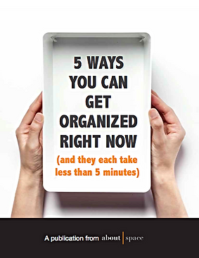 how to get organized right now