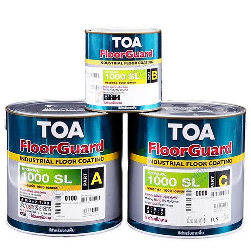 สีอีพ๊อกซี่ทาพื้นชนิดปรับระดับทีโอเอ TOA Floorguard 1000SL A+B+C แกลลอน สีพิเศษ