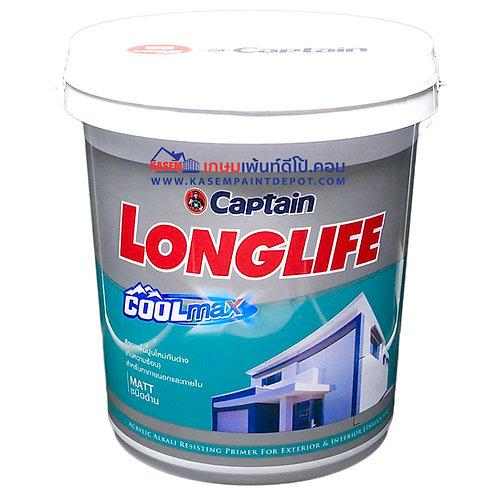 Captain Longlife Cool Max Primer รองพื้นปูนใหม่กัปตัน ลองไลฟ์ ถังใหญ่