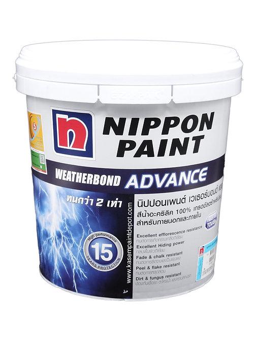 สีนิปปอน เวเธอร์บอนด์ ภายนอก เนียน Nippon Weatherbond Advance Base A ถัง9.46ลิตร