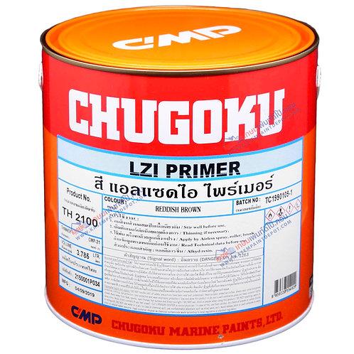 รองพื้นกันสนิมชูโกกุ สีน้ำตาลแดง Chugoku LZI Primer Reddish Brown ขนาดแกลลอน