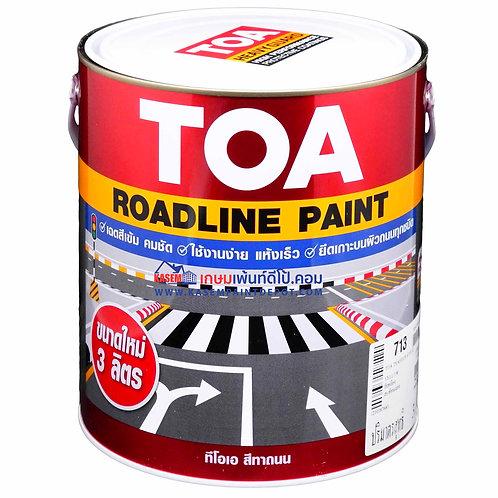 สีทาถนนทีโอเอ สีเหลือง สะท้อนแสง 713 TOA Reflective Roadline Paint แกลลอน 3 ลิตร