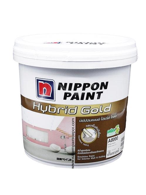 สีทาภายในและฝ้า นิปปอนไฮบริดโกลด์ Nippon Hybrid Gold สีควันบุหรี่ ถัง 9.46 ลิตร