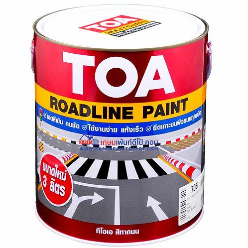 สีทาถนนทีโอเอ  สีแดงไม่สะท้อนแสง 705 TOA Non Reflective Roadline Paint