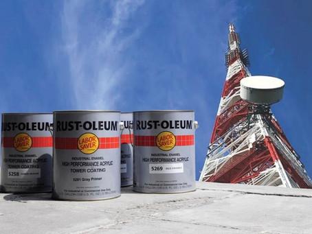 สีน้ำอะคริลิค ทาเสาสูง จาก สีรัสโอเลี่ยม Rust Oleum Tower Coating
