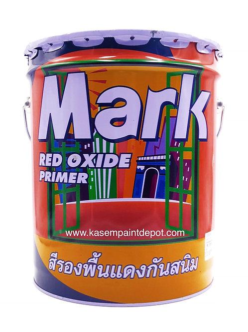 รองพื้นกันสนิมแดงกัปตัน มาร์ค Captain Mark Red Oxide Primer ถังใหญ่ 18.925 ลิตร