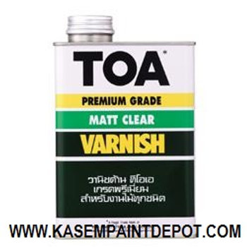 ทีโอเอ วานิช ชนิดด้าน TOA Matt Varnish T9000 ขนาดแกลลอน