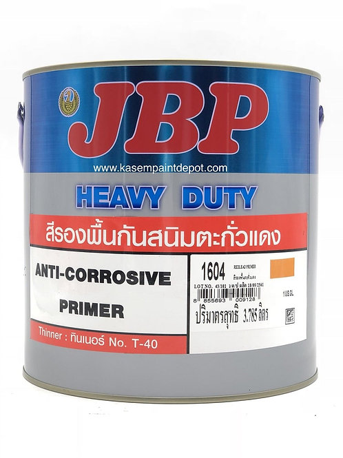 สีกันสนิมตะกั่วแดงเจบีพี JBP 1604 Aniti Corrosive Primer ขนาดแกลลอน