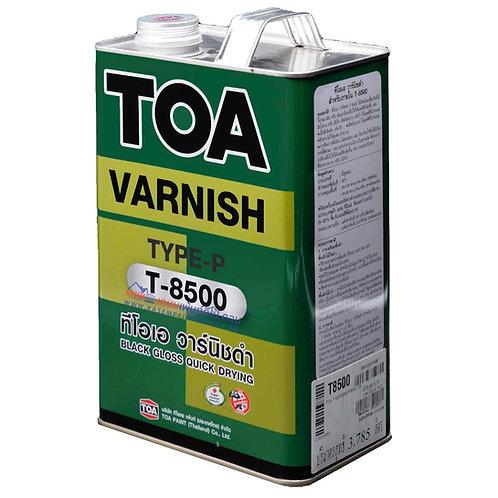 วานิชดำ ทีโอเอ T8500 TOA Black Varnish T-8500 ขนาดแกลลอน 3.785 ลิตร