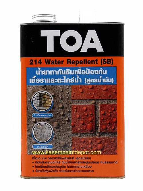 TOA 214 Water Repellent SB วอเตอร์ รีเพลแลนท์ (สูตรน้ำมัน) ขนาดแกลลอน 3.785 ลิตร