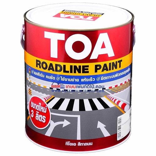 สีทาถนนทีโอเอสีแดง สะท้อนแสง715 TOA Reflective Roadline Paint