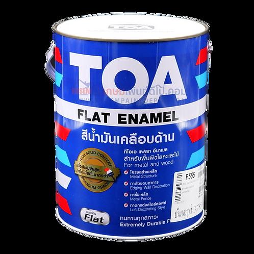 สีน้ำมันทีโอเอ สีเขียวด้าน F555 TOA Flat Enamel
