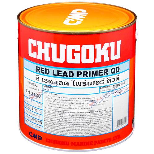 รองพื้นสีน้ำมันกันสนิม ชูโกกุ เรดลีด Chugoku Red Lead Primer QD ขนาดแกลลอน