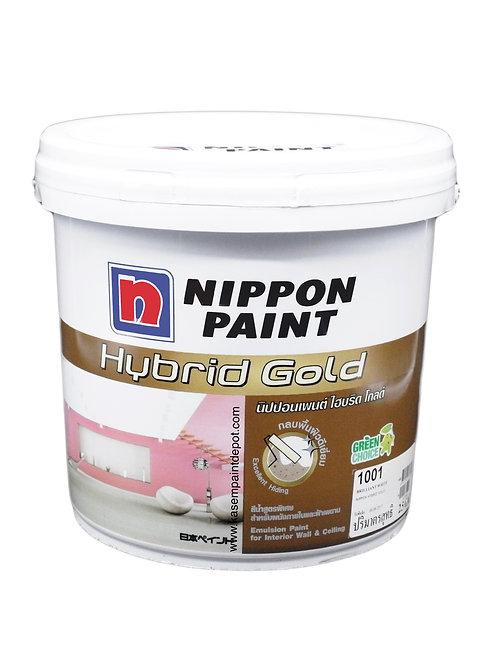 สีทาภายในและฝ้า นิปปอนไฮบริดโกลด์ Nippon Hybrid Gold สีขาว 1001 ถัง 9.46 ลิตร
