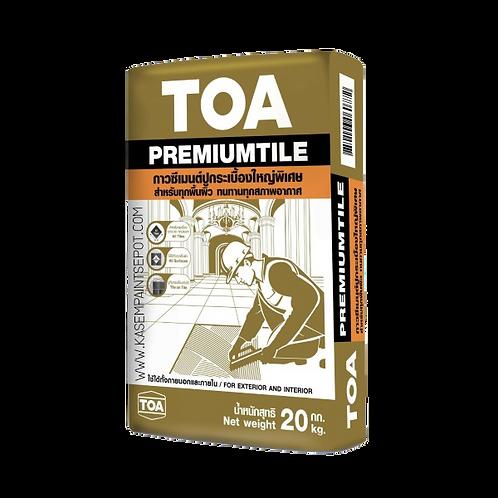 ปูนกาวทีโอเอ พรีเมียมไทล์ TOA PremiumTile ถุง 20กก. สำหรับปูกระเบื้องใหญ่พิเศษ