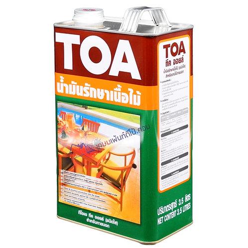 น้ำมันรักษาเนื้อไม้ทีโอเอ ทีคออยล์ ชนิดใส TOA Teak Oil ขนาดแกลลอน