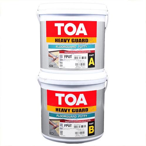 ทีโอเอ ฟลอการ์ด พุตตี้ TOA Floorguard Putty A+B อีพ๊อกซี่โป๊วพื้น ขนาด กล. 5 กก.