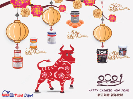 Happy Chinese New Year 2021 from KasemPaintDepot.com