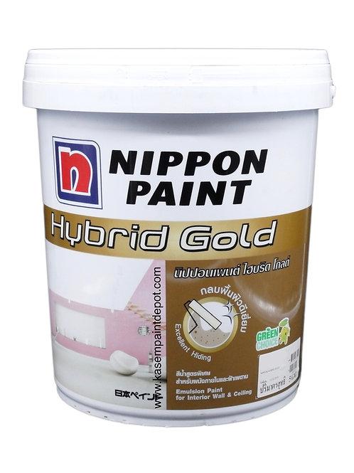 สีทาภายในและฝ้า นิปปอนไฮบริดโกลด์ Nippon Hybrid Gold สีควันบุหรี่ ถังใหญ่