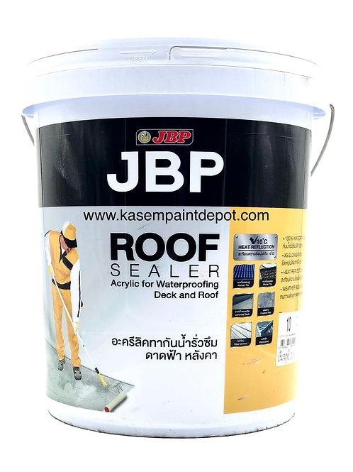 สีอะคริลิคทากันรั่วซึม JBP Roofsealer เจบีพี รูฟซีลเลอร์ ถังใหญ่ 20 กก. ขาว/เทา