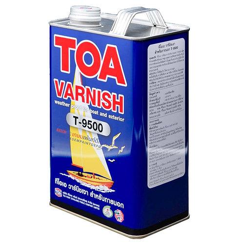 วานิชเงา ทีโอเอ ภายนอก  T9500 TOA Varnish T-9500 ขนาดแกลลอน