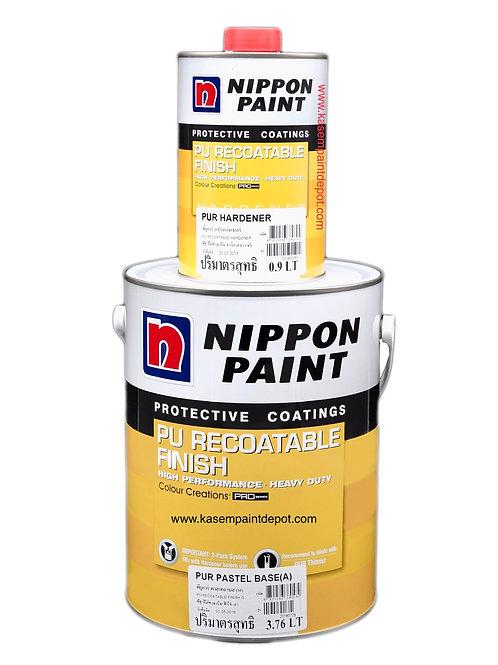 สีโพลียูริเทนนิปปอนสีขาว Nippon PU Recoatable Finish PUR