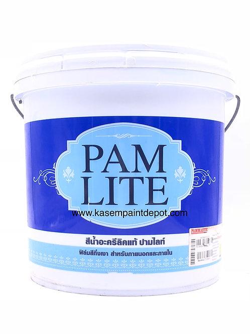 สีน้ำปามมาสติก ปามไลท์ ภายนอก กึ่งเงา Pammastic Pamlite SG Base A ถัง 9.46 ลิตร