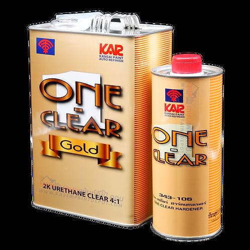สีตราพัด วันเคลียร์ทูเค โกลด์ เคลือบเงาตราพัด Kansai  One Clear 2K Gold