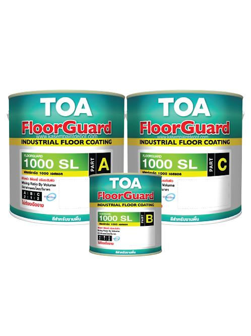 สีอีพ๊อกซี่ทาพื้น TOA Floorguard 1000SL เฉดสีพิเศษ
