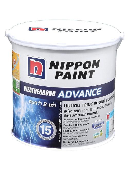 สีนิปปอน เวเธอร์บอนด์ นอก เนียน Nippon Weatherbond Advance Base A กล. 3.785 ลิตร