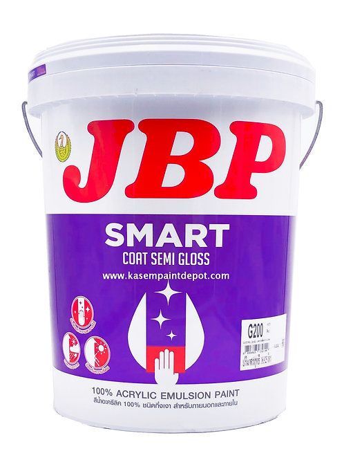 สีน้ำภายนอกและใน เจบีพี สมาร์ทโค้ท กึ่งเงา JBP Smart Coat SG ถังใหญ่ 18.925 ลิตร