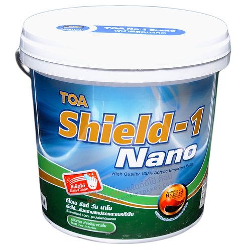 TOA Shield-1 Interior Matt ทีโอเอ ชิลด์วัน สีน้ำภายใน ชนิดด้าน ถัง 9.46 ลิตร